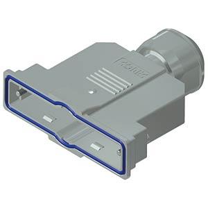 D-Sub-Haube, 37-pol, Kunststoff metallisiert CONEC 15-004840