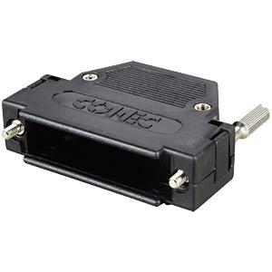 D-SUB-Kappe f. 25-polig D-Sub, schwarz, gerade CONEC 165X10159XE