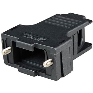 D-sub cap for 9-pin D-sub, black, large, side CONEC 165X13419XE