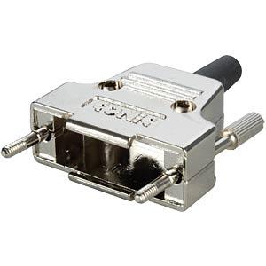 D-sub cap for 15-pin D-sub, metal, straight CONEC 165X17319XE