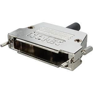 D-sub cap for 37-pin D-sub, metal, straight CONEC 165X17339XE
