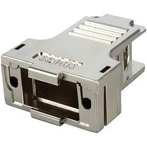 D-SUB-Hood f.  9-pin D-Sub, metal, big, side entry CONEC 165X13519XE