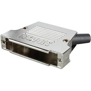 D-sub cap for 37-pin D-sub, metal, side CONEC 165X17589XE
