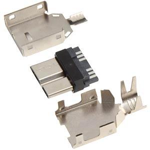 Micro USB 3.0, type B, plug with strain relief FREI