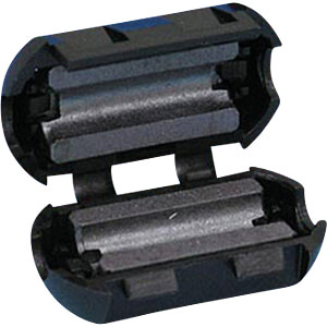 Split Ferrite for round cable, Ø to 5.2 mm, round RND COMPONENTS RND 165-00004
