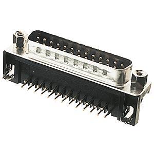D-SUB-Stecker, 25-polig, gewinkelt, RM 9,4 FREI