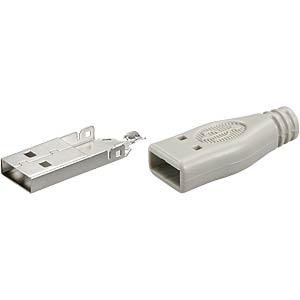 USB-Stecker, Serie A, gerade, inkl. Haube FREI