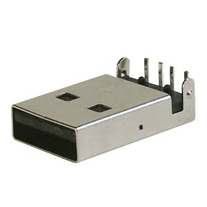 USB-Einbaustecker, Serie A, gewinkelt, ultraflach FREI