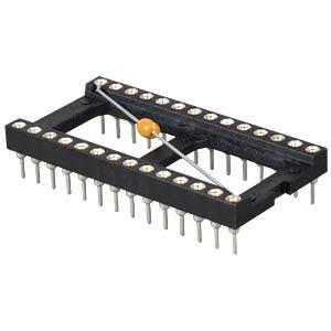 IC-Sockel, 28-polig, mit Abblockkondensator FREI