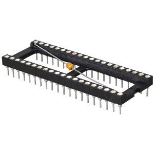 IC socket, 40-pin, with blocking capacitor FREI