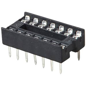 IC socket, 14-pin, double spring contact FREI