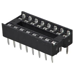 IC socket, 16-pin, double spring contact FREI