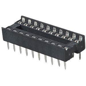 IC socket, 20-pin, double spring contact FREI