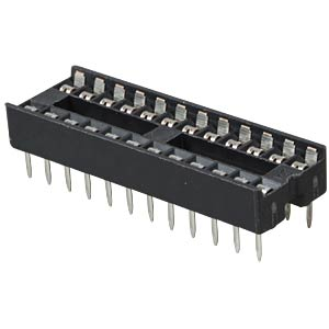 IC socket, 24-pin, dual spring contacts, narrow FREI