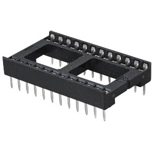 IC socket, 24-pin, double spring contact FREI