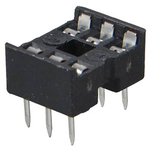 IC socket, 6-pin, double spring contact FREI