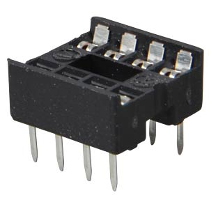 IC socket, 8-pin, double spring contact FREI