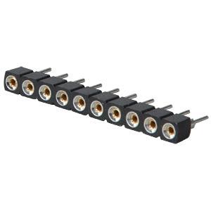 Präzisions-Sockelstreifen 2,54 mm, 10-polig MPE-GARRY 006-1-010-D-B1STF-XS0