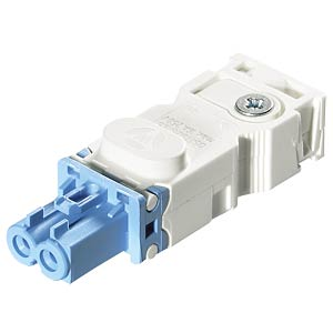 Connector — screw connection, socket, light blue WIELAND 91.921.2353.0