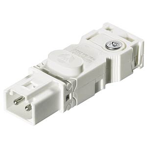 Connector, screw connection, plug, white WIELAND 91.922.2053.0