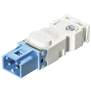 Connector — screw connection, plug, light blue WIELAND 91.922.2353.0