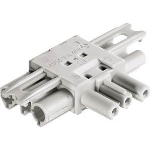 T-Verteiler, 3-polig, ws, 1x Ein / 2x Aus, flach WIELAND 92.030.1253.0
