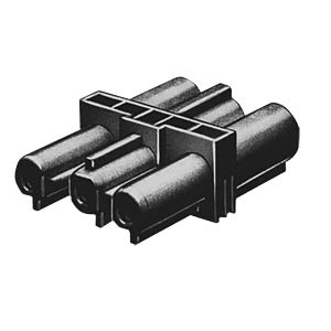 Intermediate coupling, 3-pin, black WIELAND 92.030.5958.1