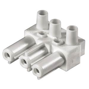 Socket - 3-pin, white, screw connection WIELAND 92.031.3258.0