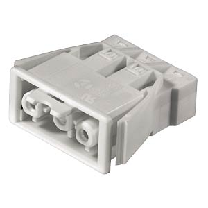 Socket, snap-in - 3-pin, white, spring connection WIELAND 92.031.9658.0