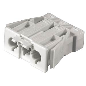 Plug, snap-in - 3-pin, white, spring connection WIELAND 92.032.9658.0