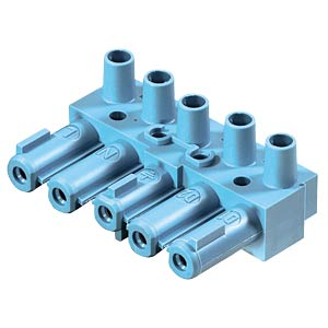 Socket - 5-pin, blue, screw connection WIELAND 92.051.3753.0
