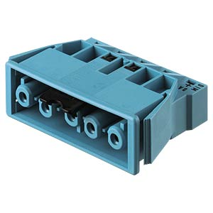 Socket, snap-in - 5-pin, blue, spring connection WIELAND 92.051.8658.0