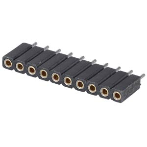 Socket - 10-pin, straight, 2.54 pitch, H: 7.0 mm FREI