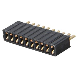 10-pin socket terminal strip, straight, RM 1.27 FREI