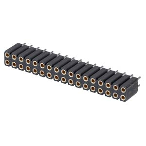 Socket - 17-pin, straight, 2.54 pitch, H: 7.0 mm FREI