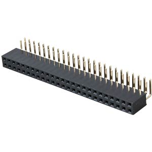 2x 25-pin socket terminal strip, angled, RM 2.54 FREI
