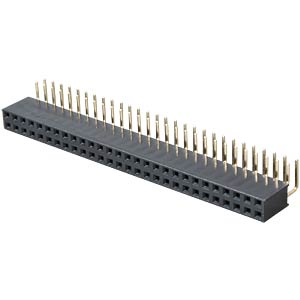 2x 28-pin socket terminal strip, angled, RM 2.54 FREI