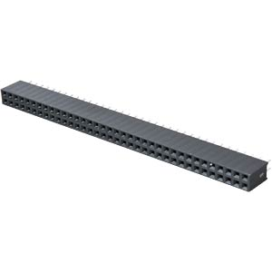 2x 36-pin socket terminal strip, straight, RM 2.54, H: 8.5 mm FREI