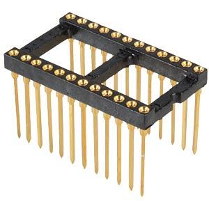 IC-Präzisions-Sockel,WireWrap,24pol,vergoldet FISCHER ELEKTRONIK 10031527