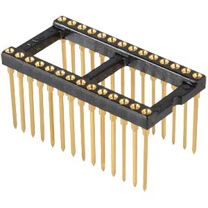 IC precision 28-pin socket, WireWrap, gold plated FISCHER ELEKTRONIK 10031549