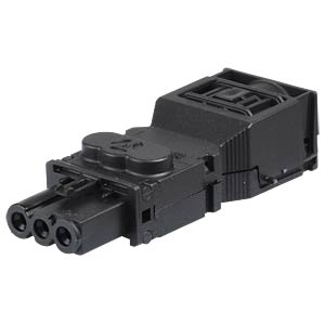 Connector — screw connection, socket, black WIELAND 91.931.4053.1