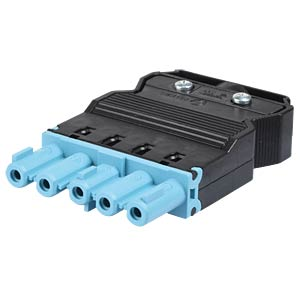 Socket - 5-pin, blue, screw connection WIELAND 92.753.4453.0