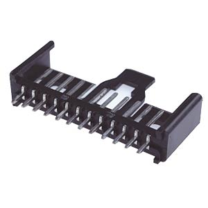 Pin header, straight, RM 2.5, 6-pin LUMBERG