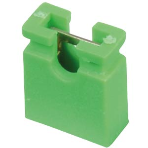 Jumper 2.54 mm, open, green MPE-GARRY 149-1-002-F2-XS