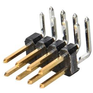 Stiftleisten 2,54 mm, 2X04, gewinkelt MPE-GARRY 088-2-008-0-S-XS0-1080