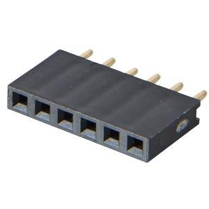 Buchsenleisten 2,54 mm, 1X06, gerade MPE-GARRY 094-1-006-0-NFX-YS0