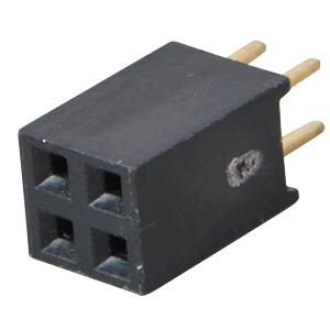 Sockets 2.54 mm, 2X02, straight MPE-GARRY 094-2-004-0-NFX-YS0