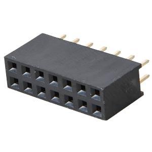 Buchsenleisten 2,54 mm, 2X07, gerade MPE-GARRY 094-2-014-0-NFX-YS0