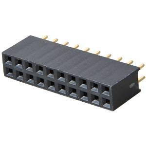 Buchsenleisten 2,54 mm, 2X10, gerade MPE-GARRY 094-2-020-0-NFX-YS0