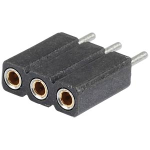 Präz.-Buchsenleisten 2,54 mm, 1X03, gerade MPE-GARRY 115-1-003-1-0-MTF-XS0